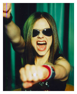 My students think Avril Lavigne is great, I think shes cute lol